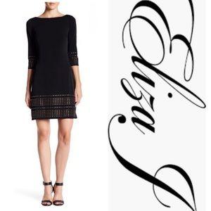 Eliza J 3/4 Length Sleeve Shift Dress